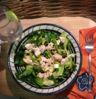 Green Salad with Lime & Oil Dressing         Coconut Water with Lime Twist