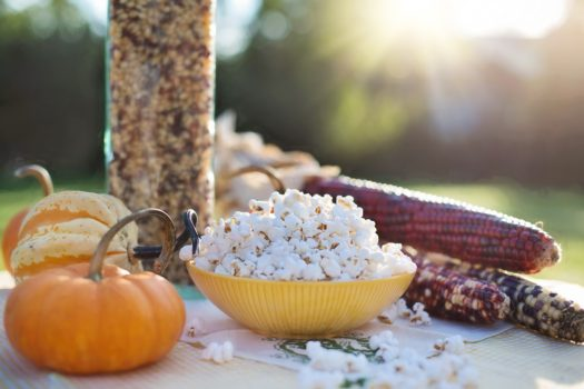 Garlic and Herb Popcorn, a fall treat